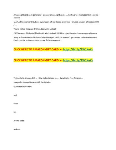 Roblox Gift Card Codes List 2020 Hack Unused Amazon Gift Card Codes By Freeamazongiftcardgenerators Issuu