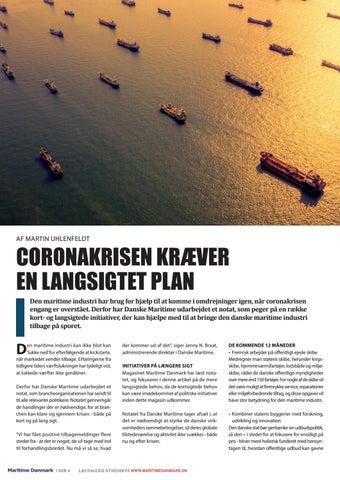 Page 4 of CORONAKRISEN KRÆVER EN LANGSIGTET PLAN