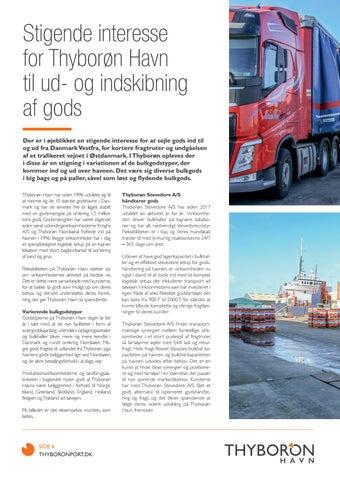 Page 14 of STIGENDE INTERESSE FOR THYBORØN HAVN TIL UD- OG INDSKIBNING AF GODS