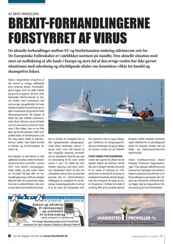 Page 21 of BREXIT-FORHANDLINGERNE FORSTYRRET AF VIRUS