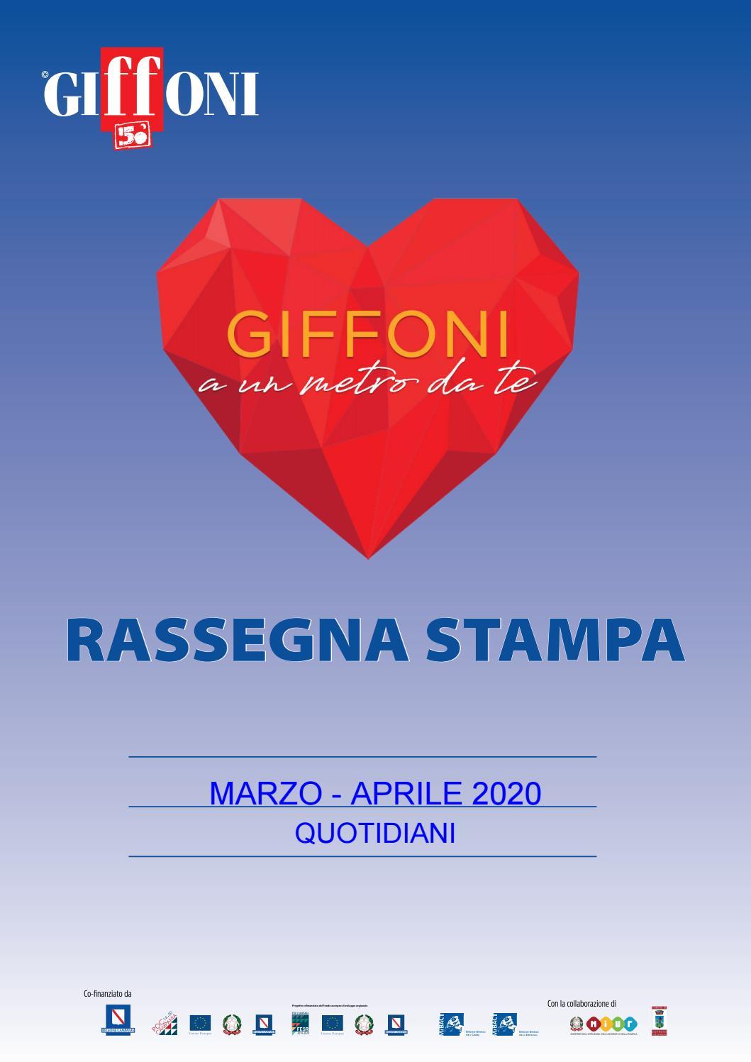 Rassegna Stampa Giffoniaunmetrodate Marzo Maggio 2020 By Giffoni Experience Issuu