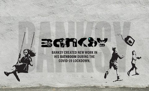 Page 36 of BANKSY CREATED NEW WORK IN HIS BATHROOM DURING THE COVID-19 LOCKDOWN.