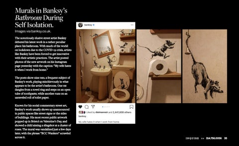 Page 37 of BANKSY CREATED NEW WORK IN HIS BATHROOM DURING THE COVID-19 LOCKDOWN.
