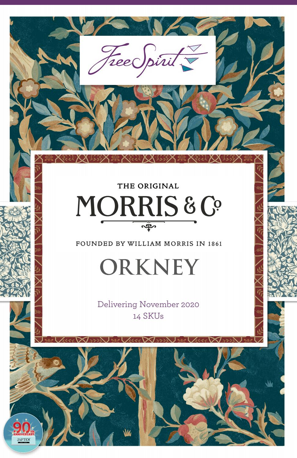 Fat Quarter Orkney 14 pc Free Spirit Fabrics Orkney by Morris /& Co