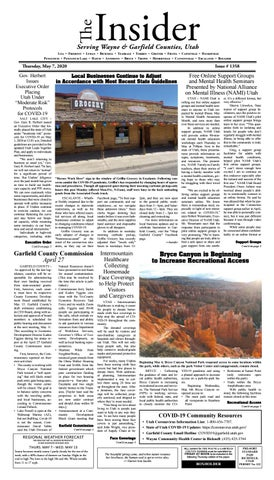 The Wayne Garfield County Insider May 7 2020 By Snapshot Multimedia Llc Issuu