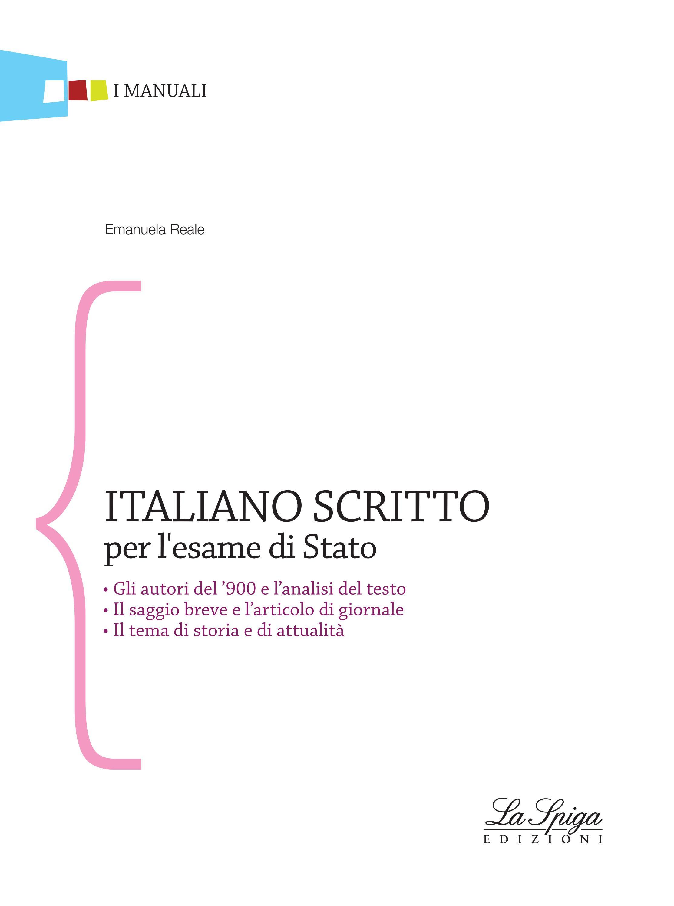 Italiano Scritto Per L Esame Stato By Eli Publishing Issuu