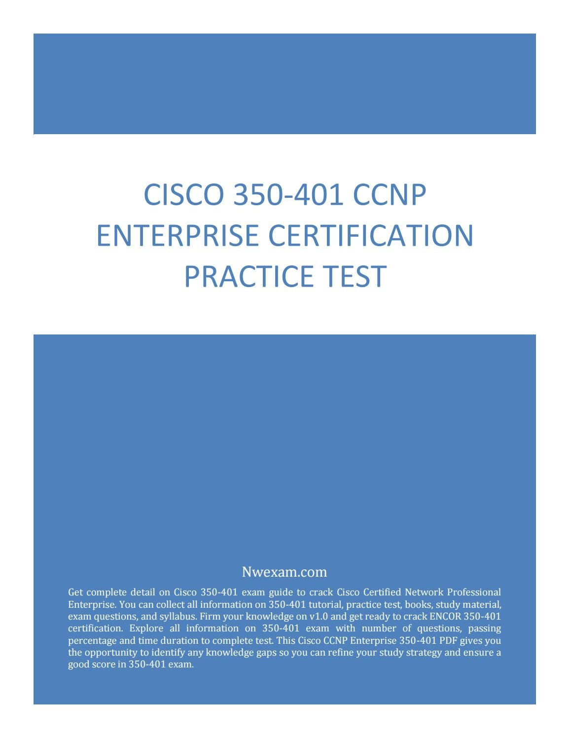 ccnp enterprise cisco certification practice test