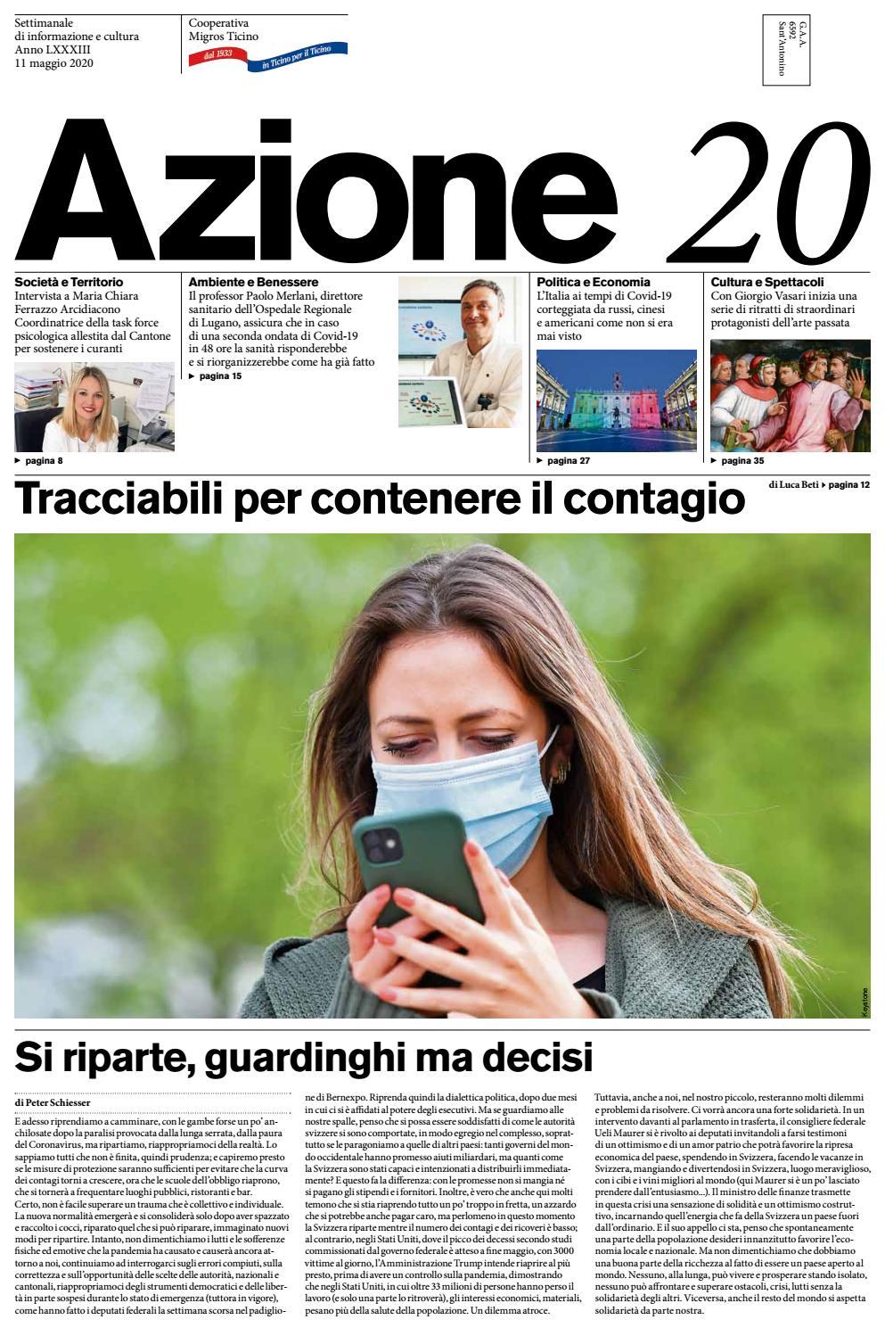 Azione 20 Del 11 Maggio 2020 By Azione Settimanale Di Migros Ticino Issuu