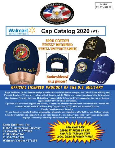 eagle emblems inc walmart cap catalog 2020 v1 by eagle emblems inc issuu issuu