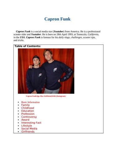 Capron Funk Girlfriend