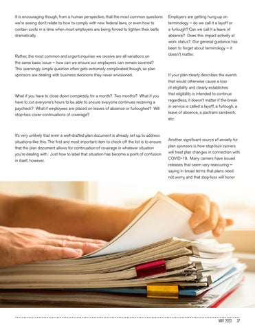 Page 37 of CONTINUING COVERAGE DURING COVID-19