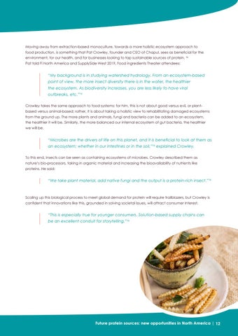 Page 12 of Protein sources - a commercial opportunity