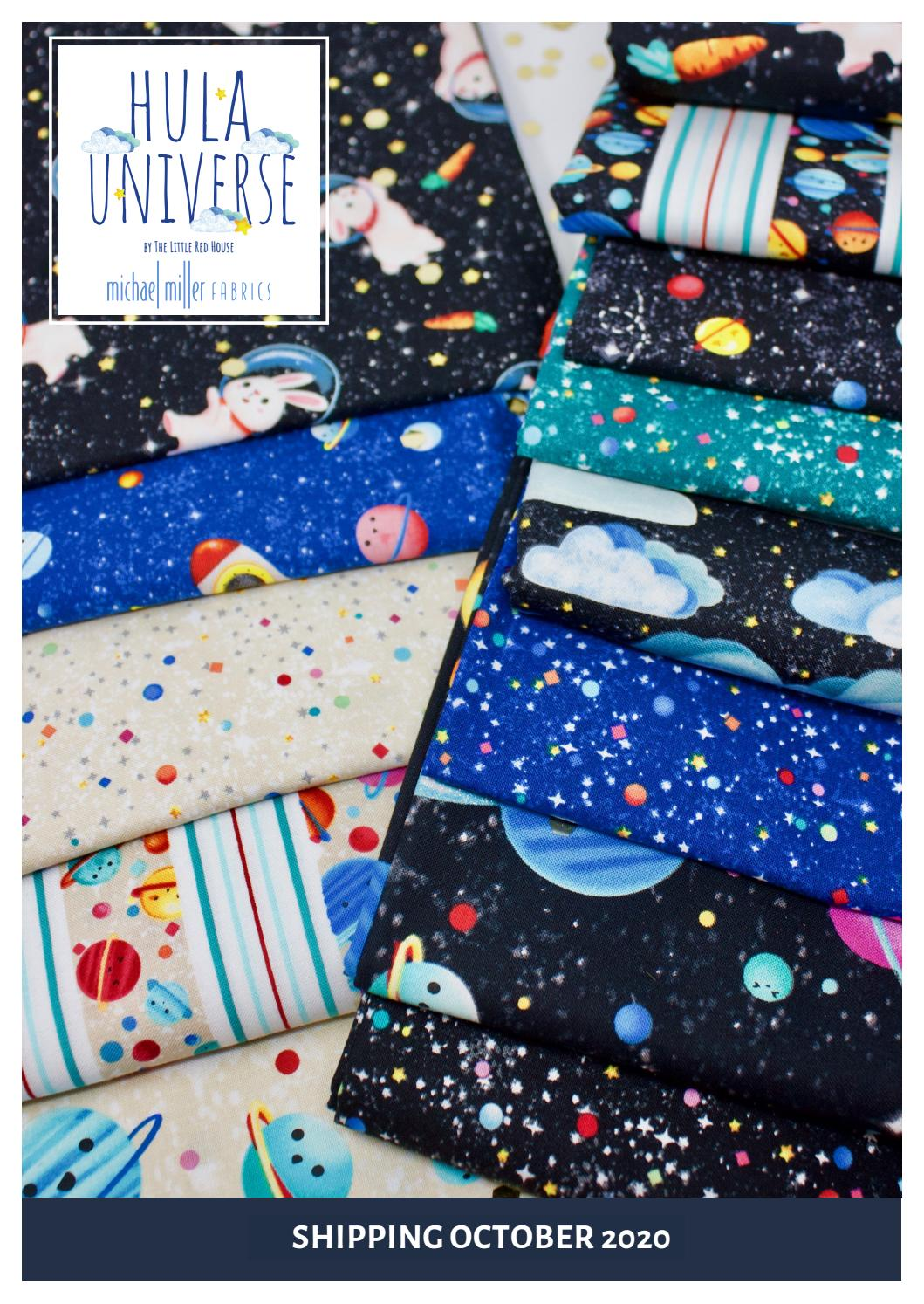Michael Miller Fabrics | Hula Universe By The Little Red House by