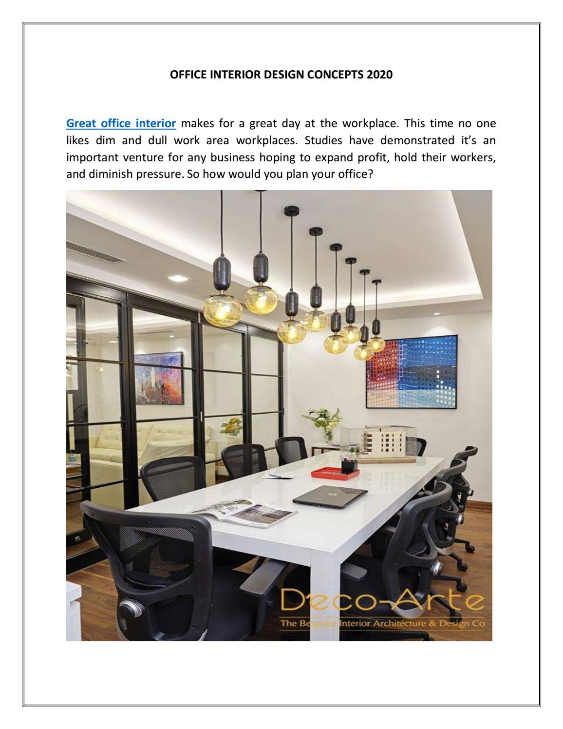 Office Interior Design Concepts 2020 By Decoarte Issuu
