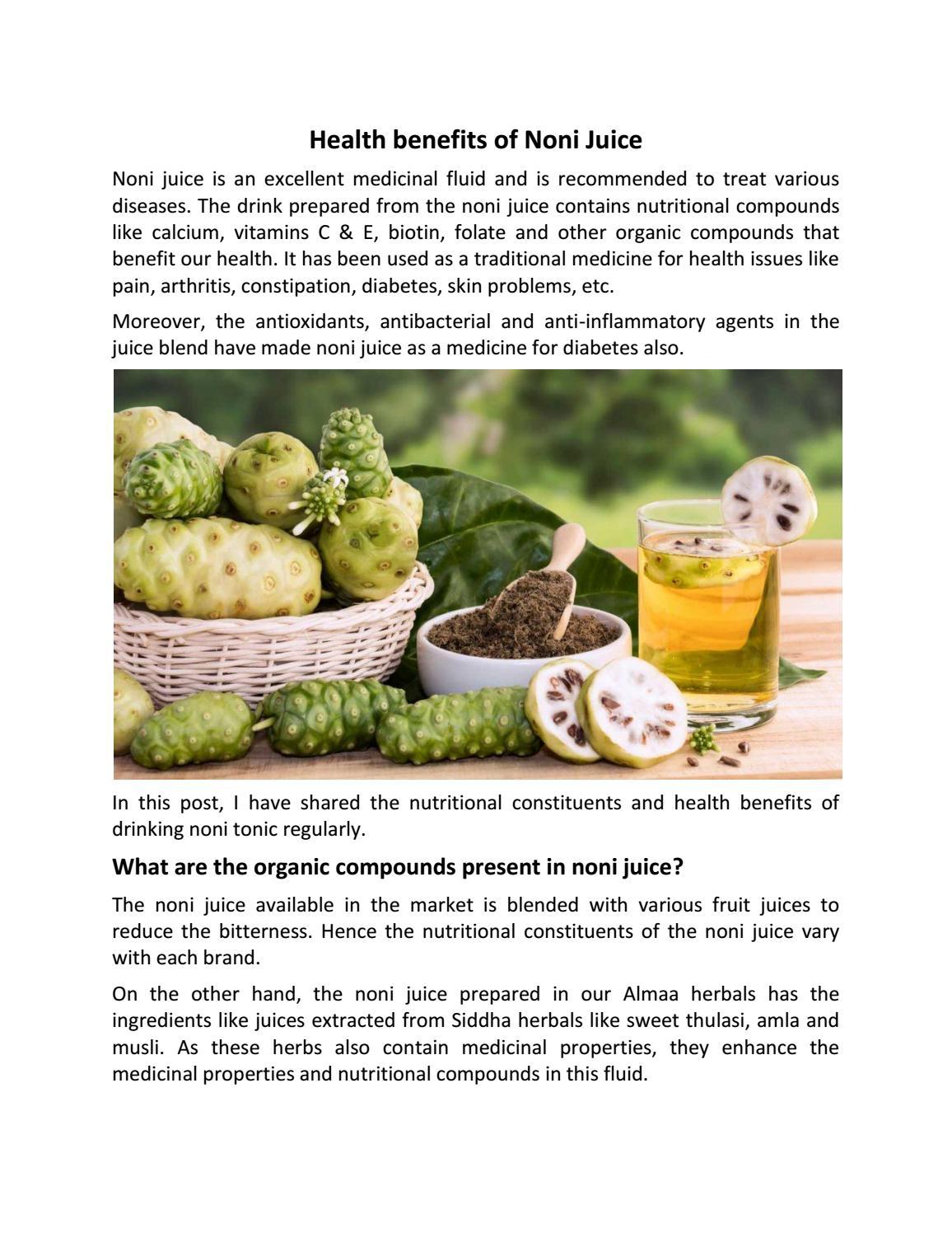 health benefits of noni juicesajivkumar892 - issuu
