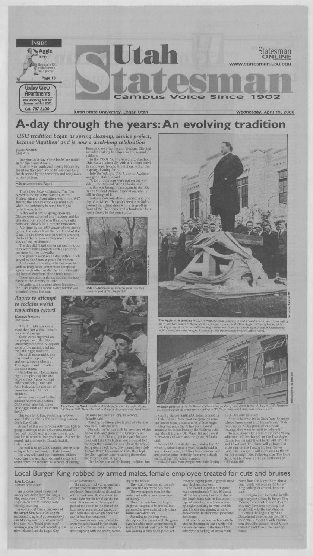 The Utah Statesman April 19 2000 By Usu Libraries Issuu