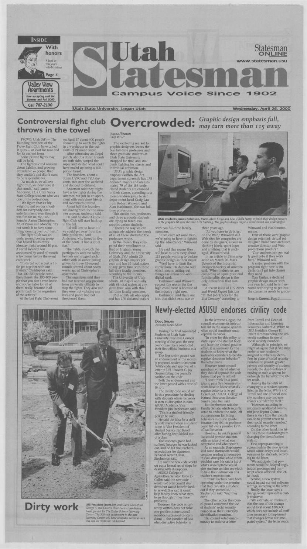 The Utah Statesman April 26 2000 By Usu Digital Commons Issuu How much of kip kinkel's work have you seen? issuu