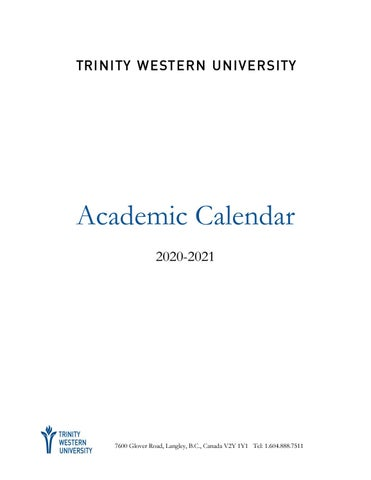 Academic Calendar 2020 21 by TWU   issuu
