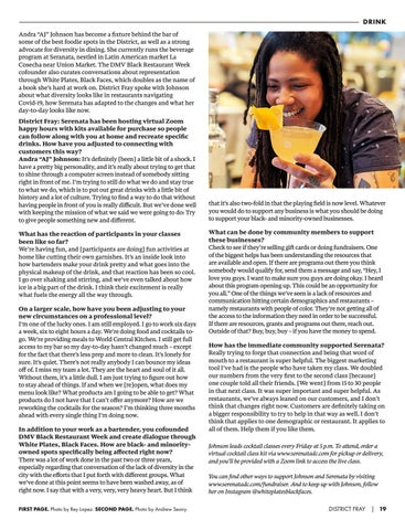 "Page 21 of DRINK // Andra ""AJ"" Johnson Talks Virtual Cocktail Classes & Diversity in D.C."