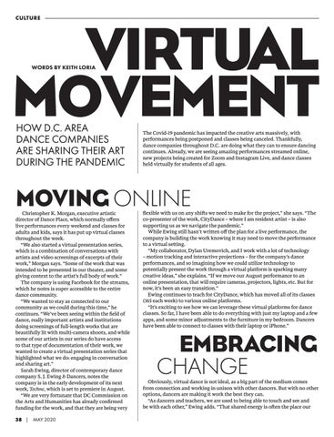 Page 40 of CULTURE // Virtual Movement: How D.C. Area Dance Companies are Sharing Their Art During the Pandemic