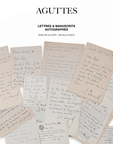 Lettres Manuscrits Autographes 26 Mai 2020 By Aguttes Issuu