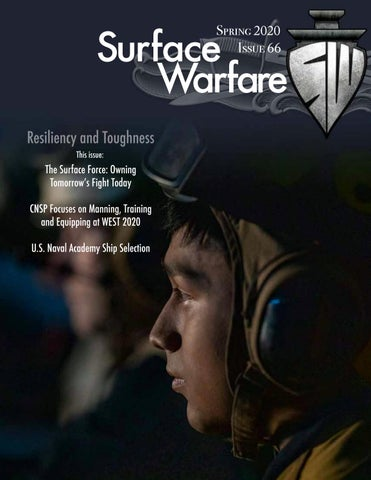 Page 1 of Surface Warfare Magazine - SPRING 2020