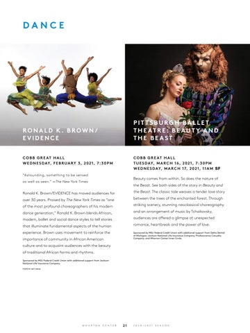 Page 23 of Performing Arts at Wharton Center: Dance