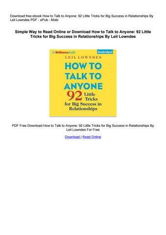 92 ways to talk to anyone free download