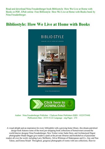 Bibliostyle How We Live At Home With Books By Andreahf654 Issuu