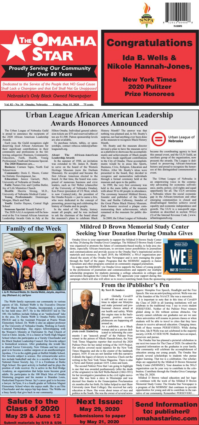 Vol 82 No 10 By The Omaha Star Issuu