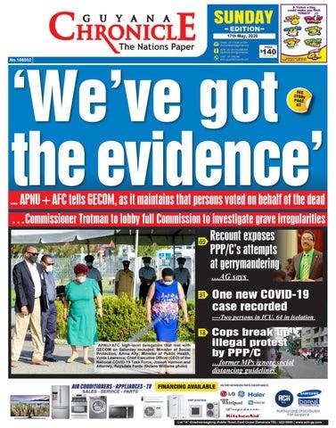 Guyana Chronicle Epaper 17 05 2020 By Guyana Chronicle E Paper Issuu