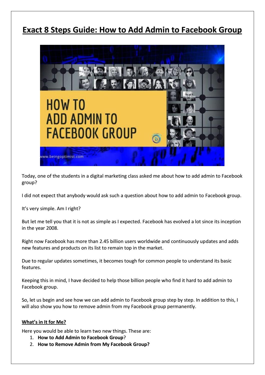 People from facebook group remove How to