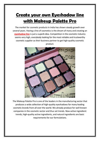 Create Your Own Eyeshadow Line With
