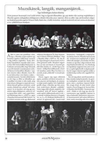 Page 22 of Muzsikások, langák, manganijárok