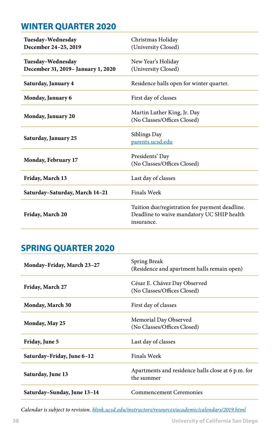 Ucsd Academic Calendar 2022.Academic Calendar Ucsd