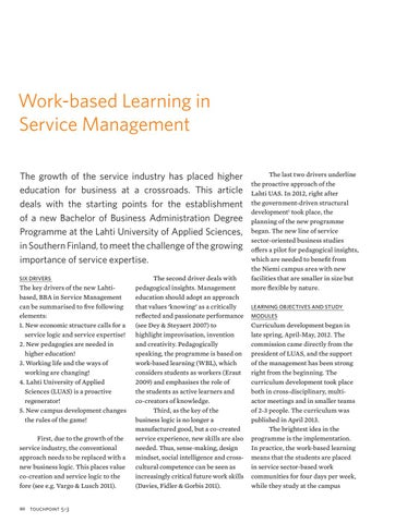 Page 80 of Work-based Learning in Service Management