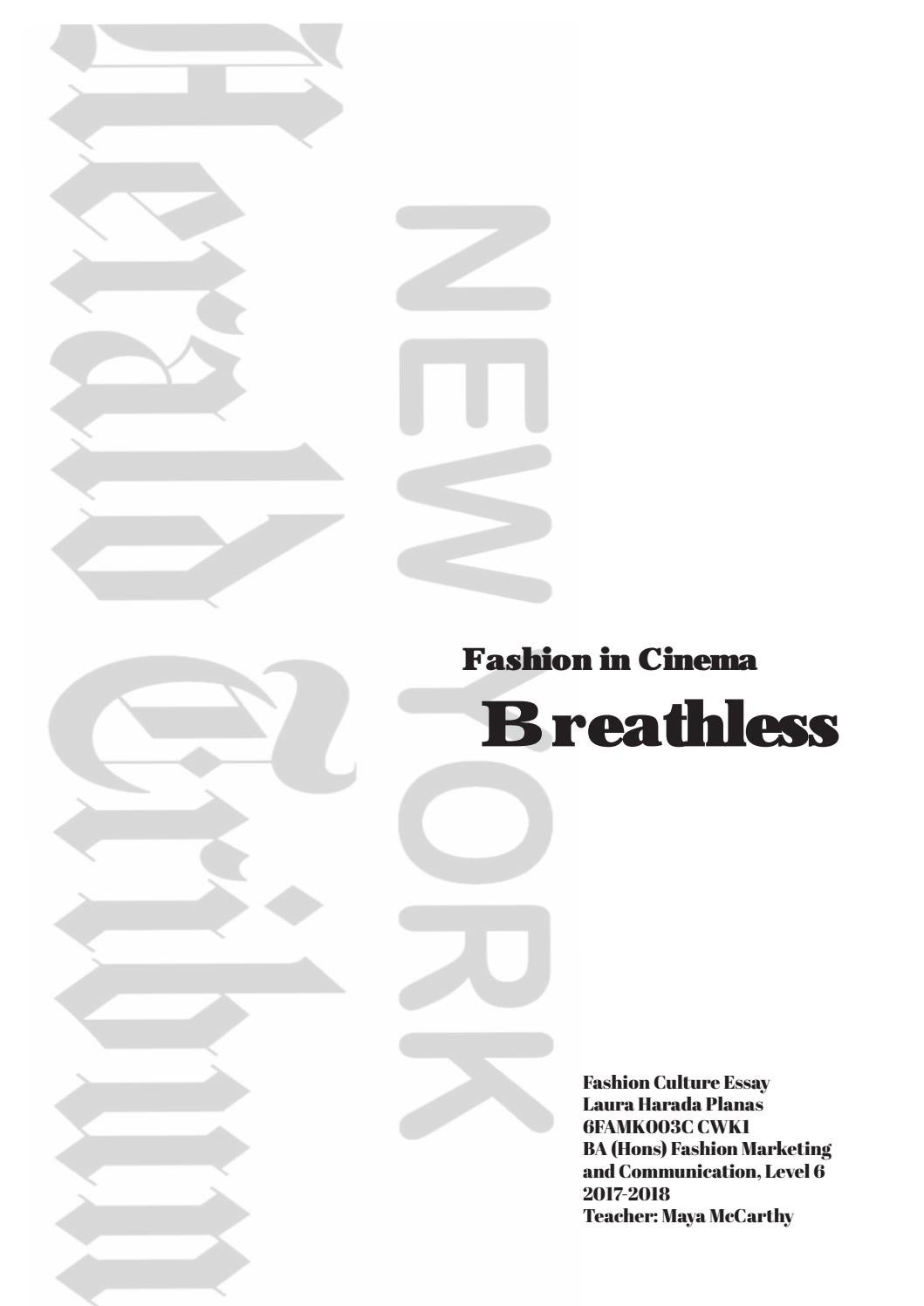 Fashion In Cinema Research Book For Breathless By Laura Harada Planas Issuu