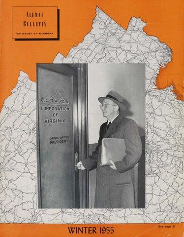 University of Richmond Magazine Winter 1955 by UR Scholarship ...