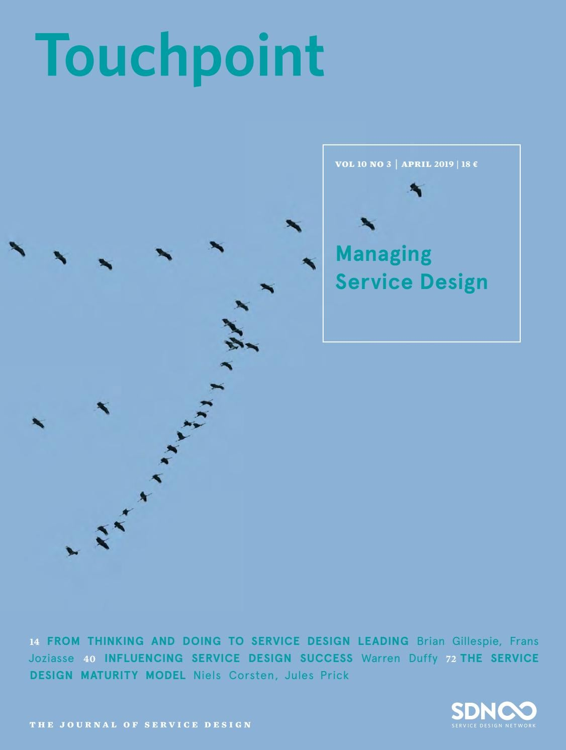 Touchpoint Vol 10 No 3 Managing Service Design By Service Design Network Issuu