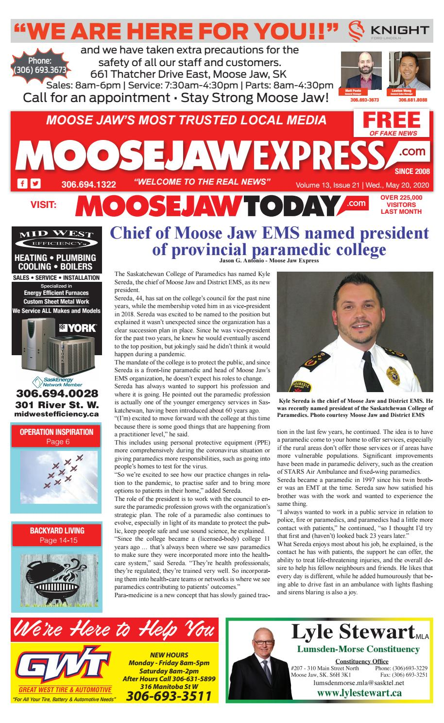 Moose Jaw Express May 20th 2020 By Moose Jaw Express Issuu
