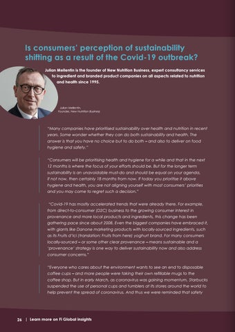 Page 26 of Is consumers' perception of sustainability shifting as a result of the Covid-19 outbreak?