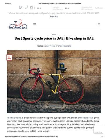 Best Sports Cycle Price In Uae Bike Shop In Uae The Shard Bike By Thehealthylyf Issuu