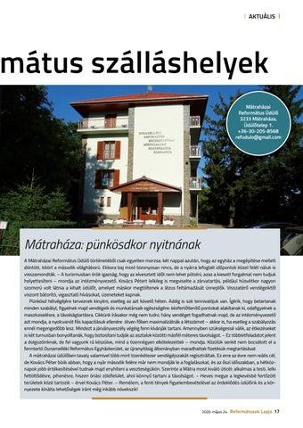 Page 17 of Újra kinyitnak a református szálláshelyek