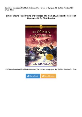 the mark of athena full book pdf free download