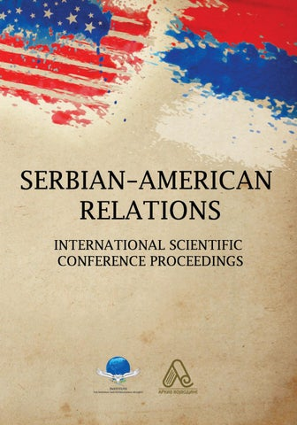 Serbian American Relations By Arhiv Vojvodine Issuu
