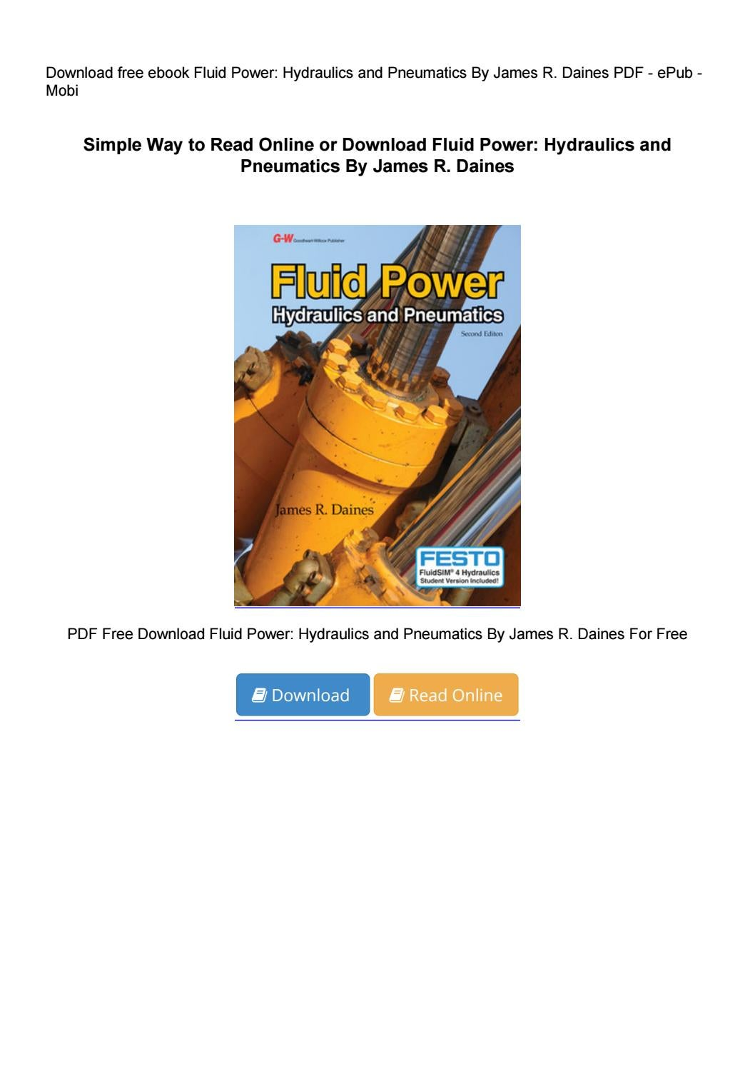 andrew parr hydraulics and pneumatics pdf free download