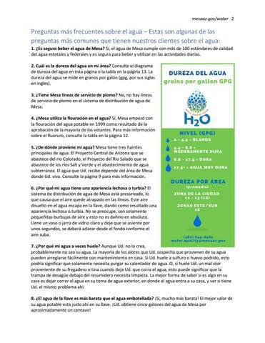 Page 4 of De dónde proviene mi agua? Mesa tiene tres fuentes