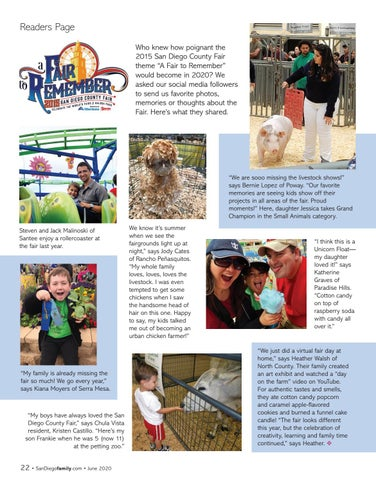 Page 22 of A Fair to Remember - San Diego County Fair