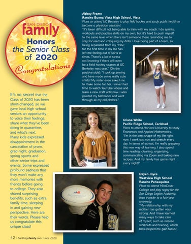 Page 42 of San Diego Family Honors the Senior Class of 2020