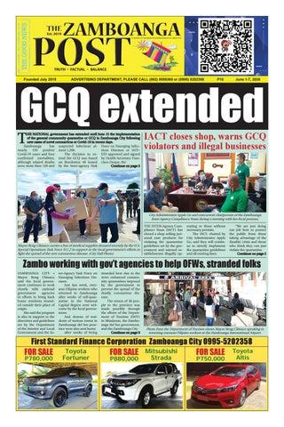The Zamboanga Post June 1 7 2020 By Mindanao Examiner Regional Newspaper Issuu